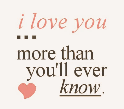 Great Romantic I Love YOU Quotes