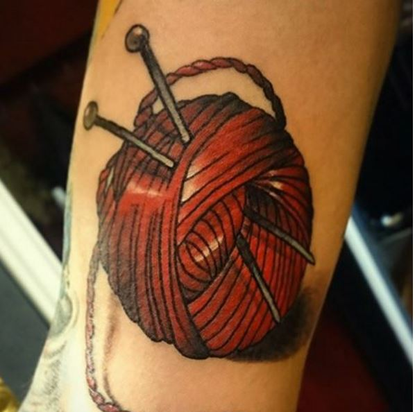 Knitting Related Tattoos : Adorable knitting tattoos ideas and designs