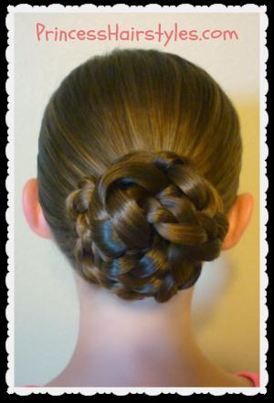 Hairstyles For Girls Princess Hairstyles Easy Triple Braid Bun