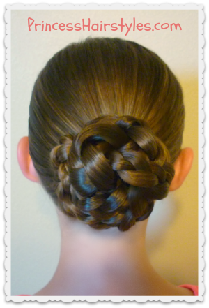 Awe Inspiring Easy Triple Braid Bun Back To School Hairstyles Hairstyles For Hairstyles For Women Draintrainus