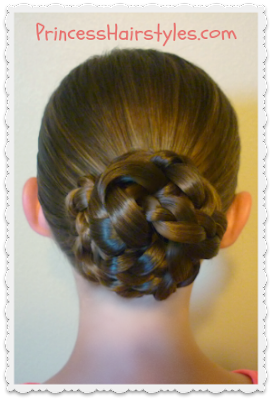 Triple braid bun updo tutorial.  Back to school hair idea.