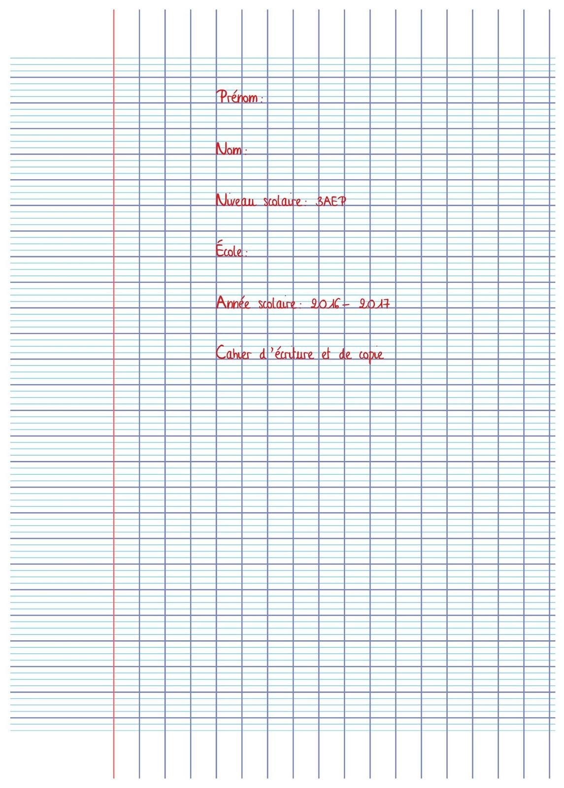 دفترالخط بالفرنسية لتلاميذ المستوى الثالث ابتدائي Cahier d'écriture pour 3 AEP primaire