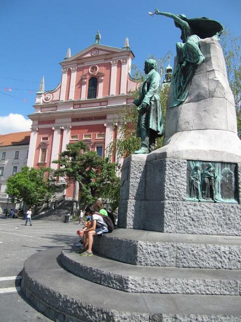 iglesia franciscana, iglesia en liubliana, ljubljana church
