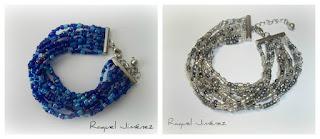 pulseras azuñ Klein y titanio