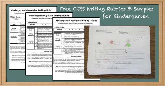 Common Core Based Writing Rubrics And Writing Samples For