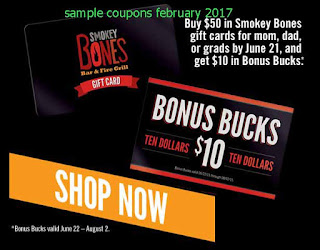 Smokey Bones coupons february 2017