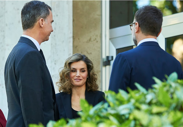 King Felipe and Queen Letizia visit US Embassy | Newmyroyals