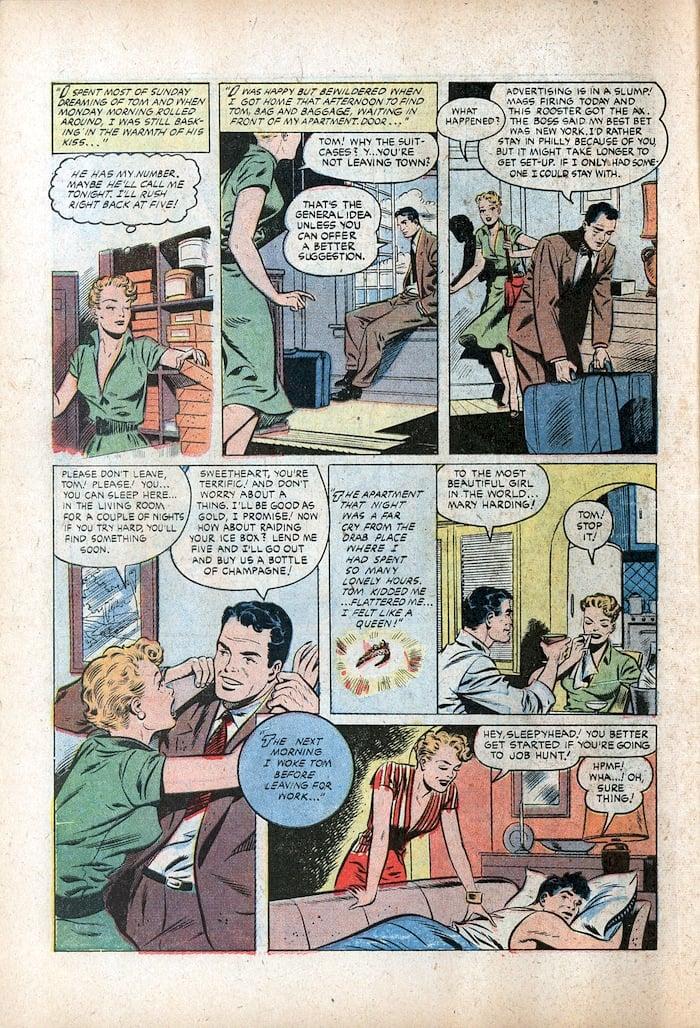 Matt Baker golden age romance comic book page