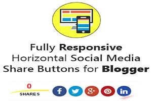 Thêm nút Share trực tiếp vào bài viết cho Blogspot Pro Version 2