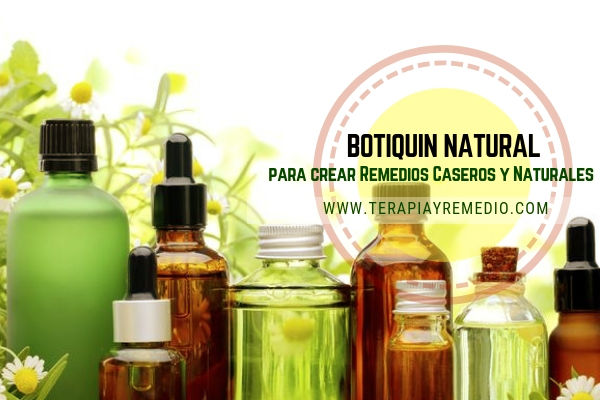 Botiquín natural casero básico para crear remedios caseros y naturales