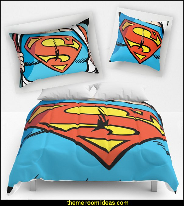 Classic Superman comforter -  Classic Superman pillows  Classic Superman duvet