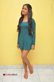 Telugu Actress Prasanthi Stills in Green Short Dress at Swachh Hyderabad Cricket Press Meet  0124.JPG