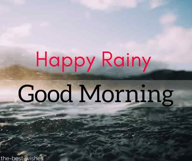 rainy good morning images