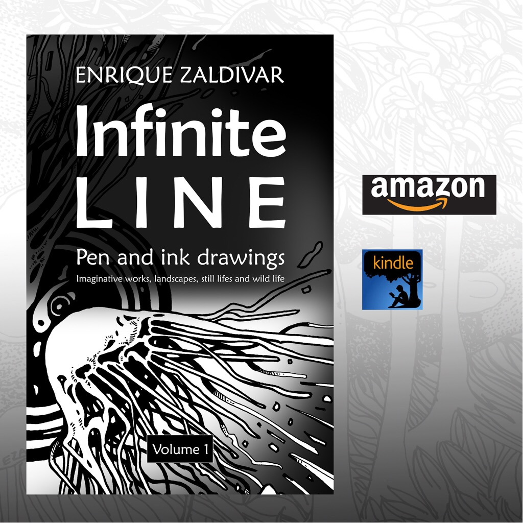 "Get today a copy of my drawing book ""Infinite line"""