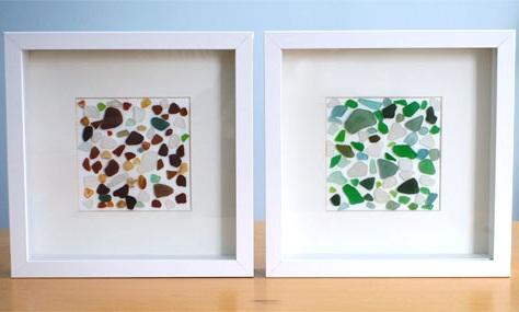 diy sea glass wall art