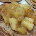 Receita de panqueca sem glúten com cobertura de maçã | Sem lactose, sem açúcar