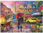 Raining In Paris Jigsaw Puzzle