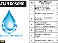 Jawatan Kosong Lembaga Air Perak - Kelayakan PMR/SPM/Diploma/Ijazah
