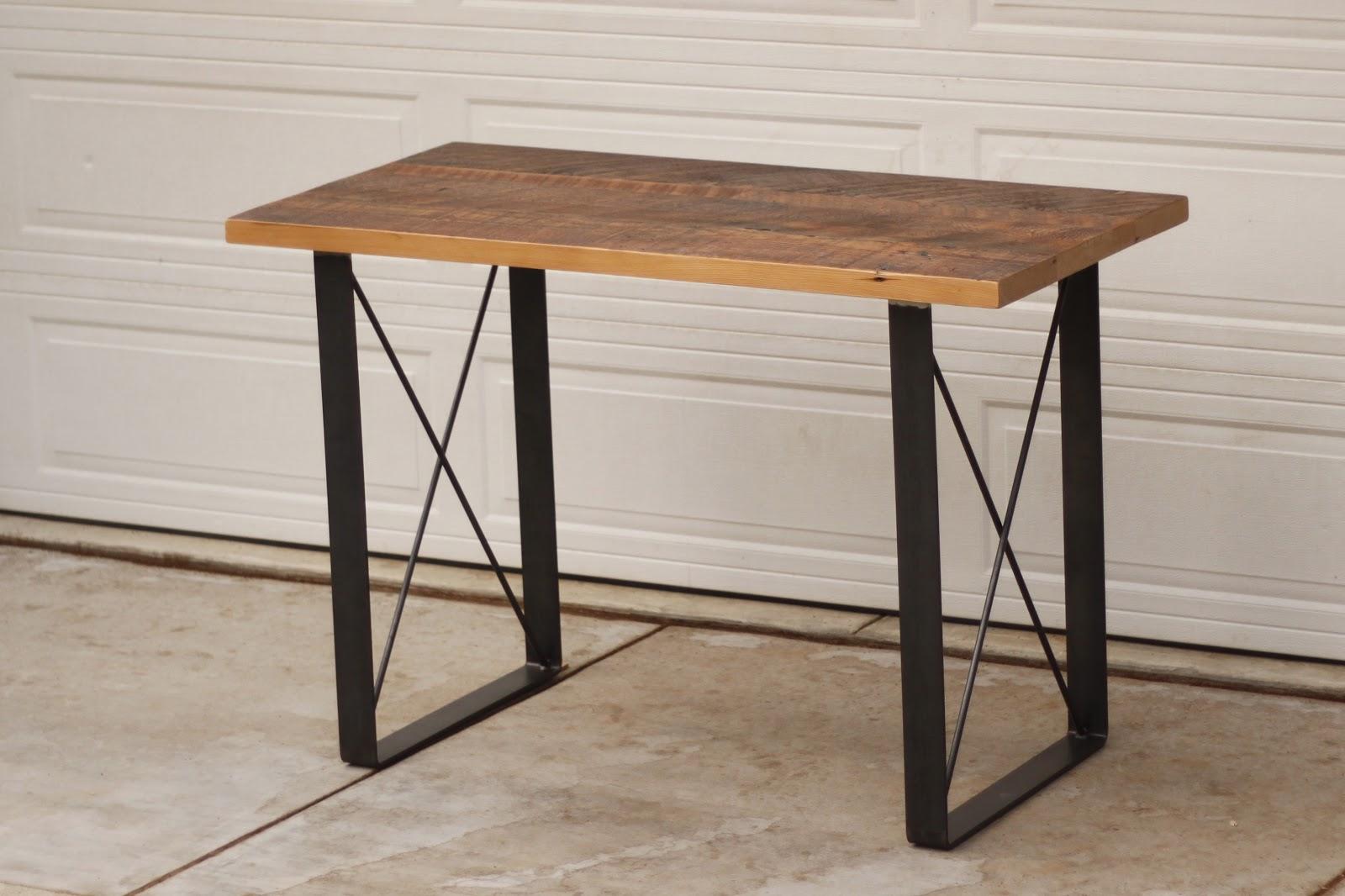arbor exchange reclaimed wood furniture stand up desk w metal x base. Black Bedroom Furniture Sets. Home Design Ideas