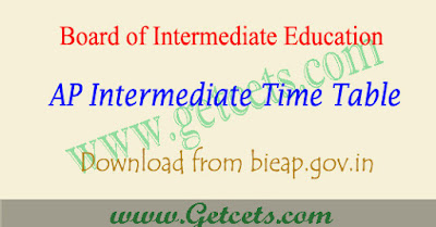 BIEAP time table 2018-2019,ap inter time table 2018