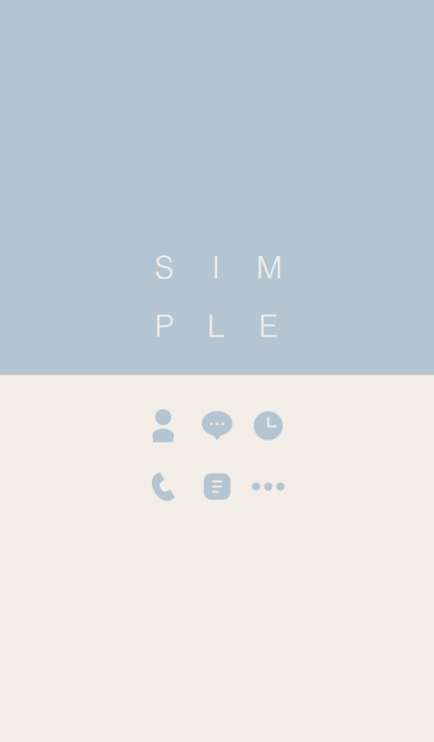 SIMPLE / beige-blue