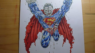 zombie superman art