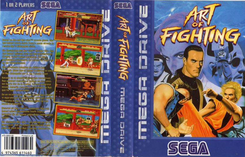 Kerr9000 S Blog Megadrive Box Art A Piece Of Japanese Art I Dont Like So Much Art Of Fighting