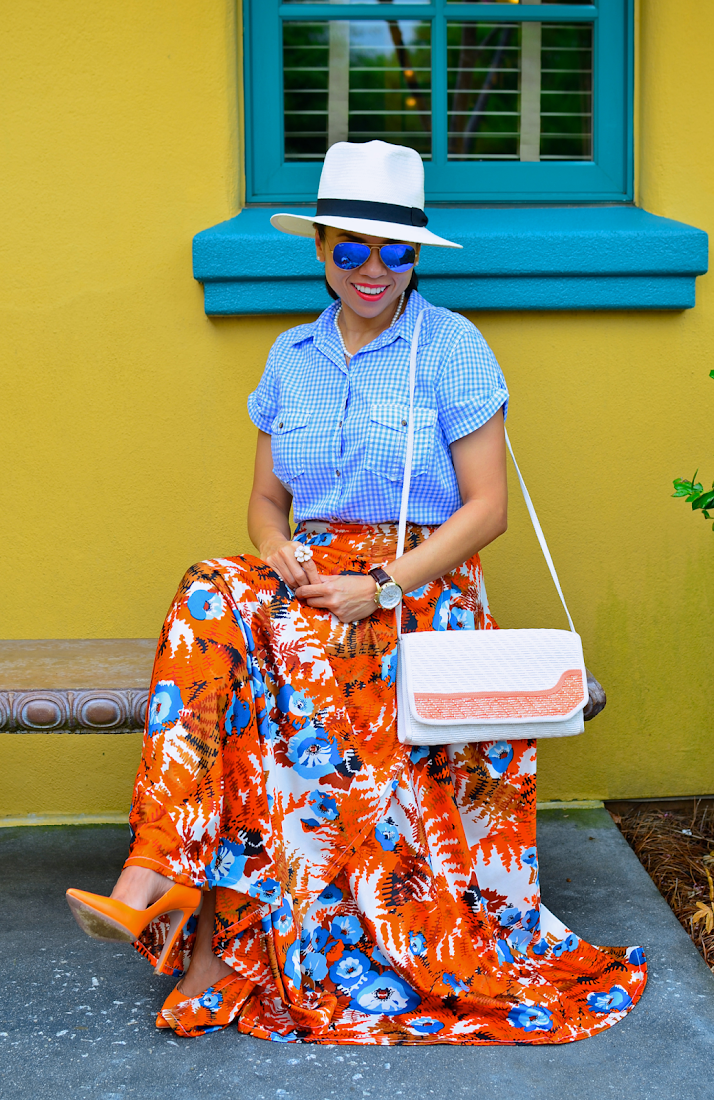 Floral Full Skirt Outfit Look