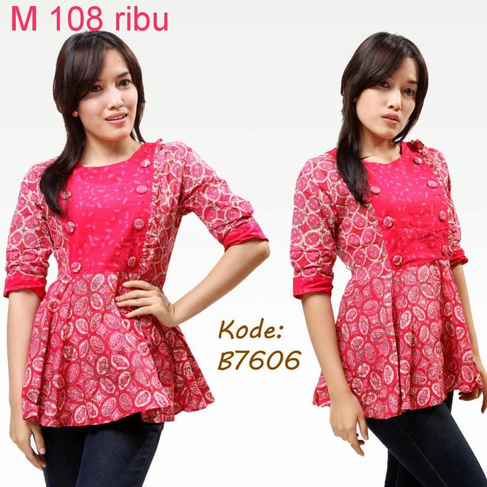Model Baju Batik Atasan Jual Baju Kerja Modis Terbaru