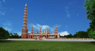 বিশ্বের দ্বিতীয় উঁচু মিনারের মসজিদ তৈরি হচ্ছে টাঙ্গাইলে