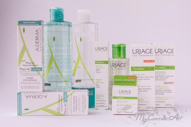 Dos gamas para combatir el acné: Phys-AC de A-Derma y Hyseac de Uriage.
