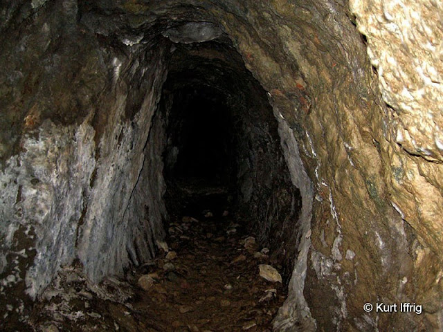 This is not the only mine Heaton worked, but it is the deepest. A smaller exploratory mine is nearby.