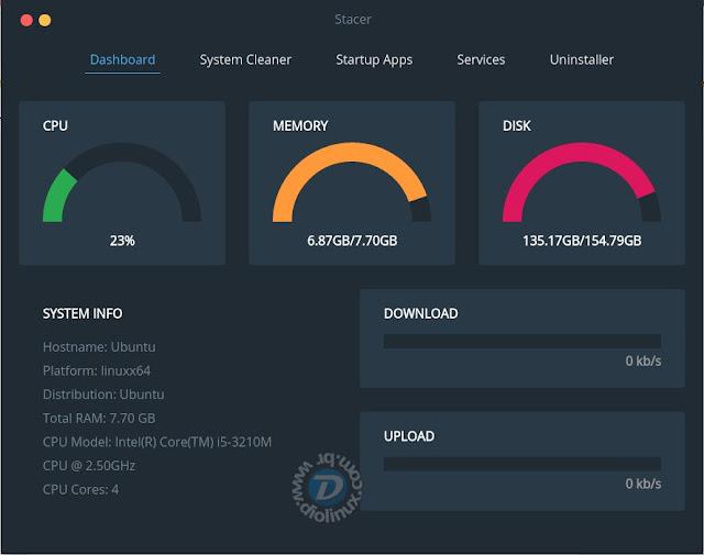 Stacer Ubuntu Optimization