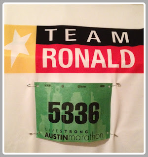 Ricky's Team Ronald bib for Austin Marathon