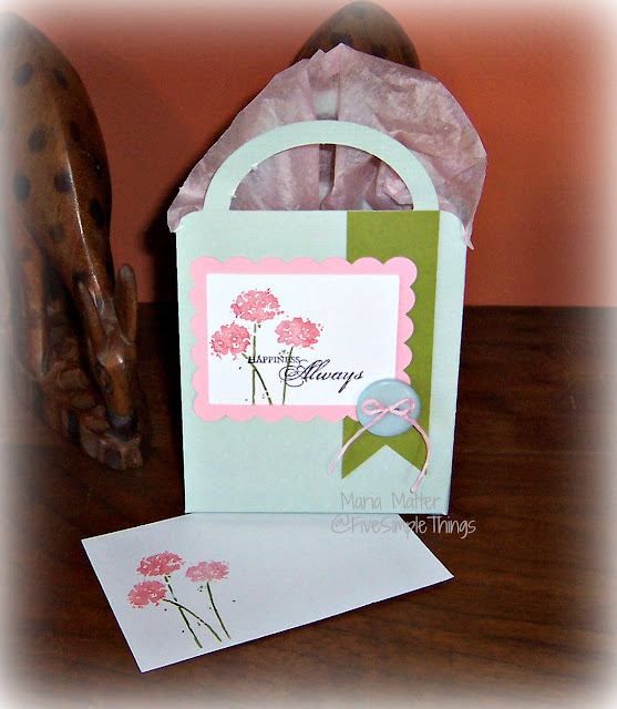 Cricut gift bag with note card - Happiness Always, Stampin' Up
