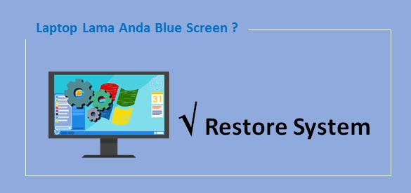 cara mengatasi layar laptop biru