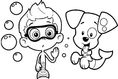 Free coloring nick pages ~ Fazendo a Nossa Festa - Colorir: Imagens Bubble Guppies ...