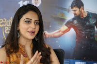 Rakul Preet Singh smiling Beautyin Brown Deep neck Sleeveless Gown at her interview 2.8.17 ~  Exclusive Celebrities Galleries 189.JPG