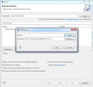Installing ADT (Eclipse Plugins)