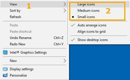 Cara merubah ukuran ikon aplikasi di Desktop