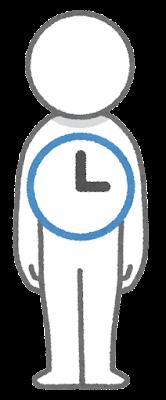 体内時計のイラスト
