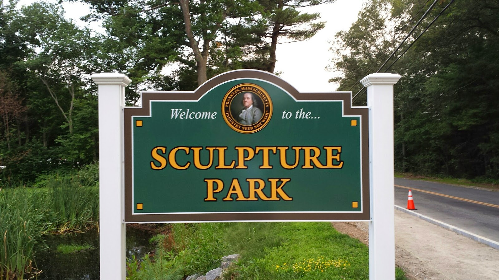 new Sculpture Park sign