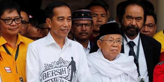Hitung Cepat SMRC, Jokowi-Ma'ruf Sementara Unggul 55,34%