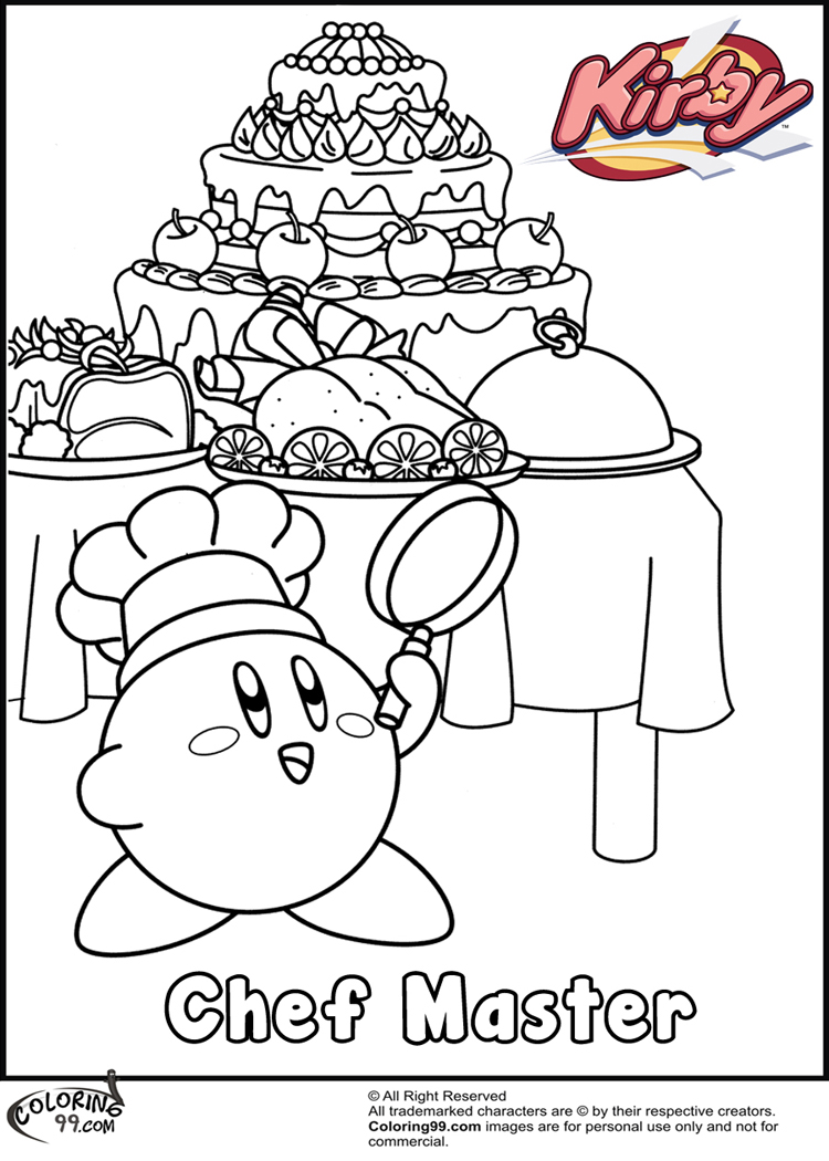 video game coloring pages - kirby coloring pages minister coloring