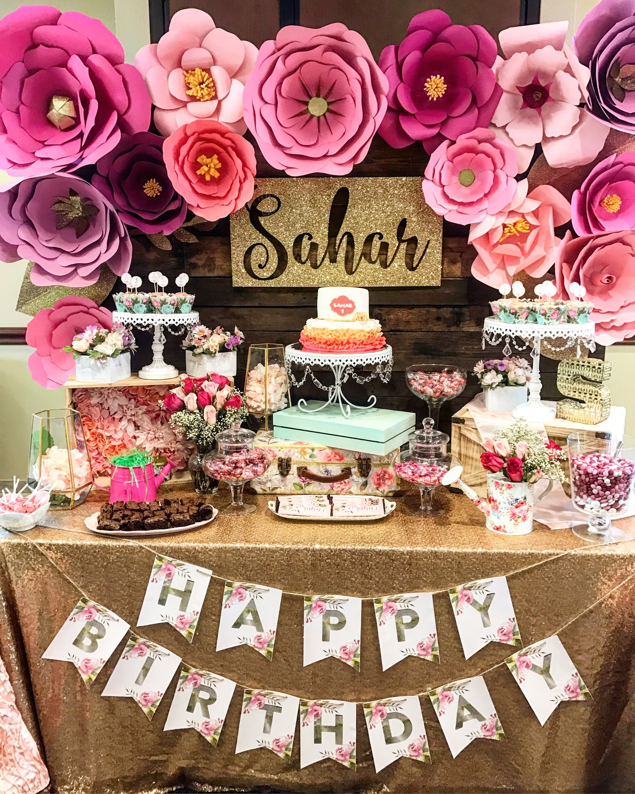Live learn laugh sahars flower garden first birthday party hope this helps with your own party planning for anything i missed feel free to reach out izmirmasajfo