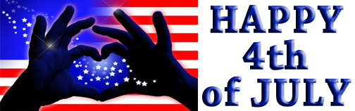 hands shape heart over usa flag - quote -happy independence day image