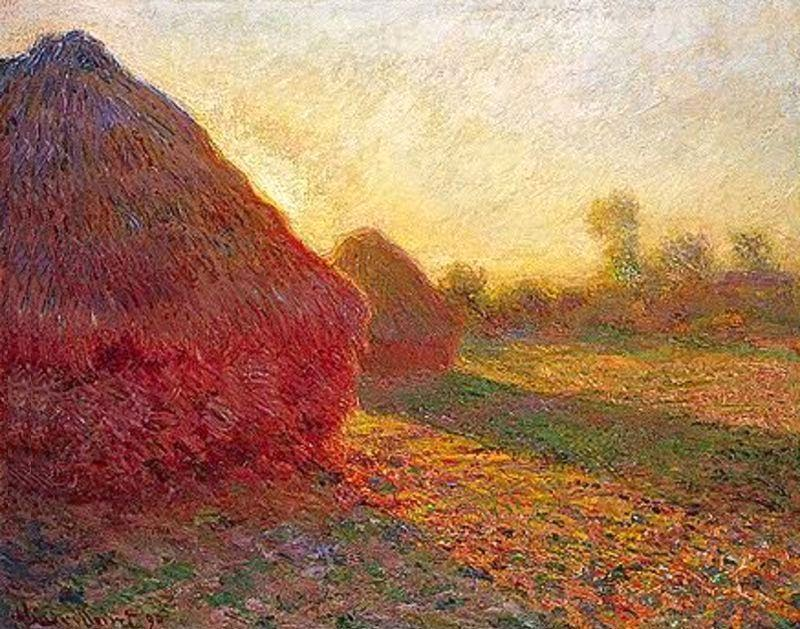 Claude Monet Meules, derniers rayons de soleil. 1890 Sotheby's. 2001