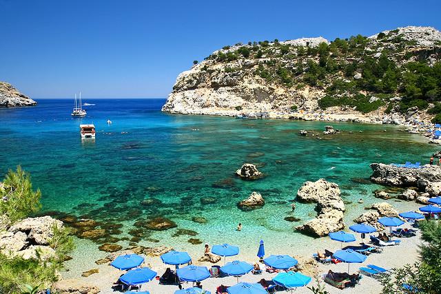 Praias da ilha de Rodes, Grécia