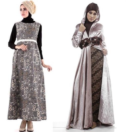 dress batik muslim modern