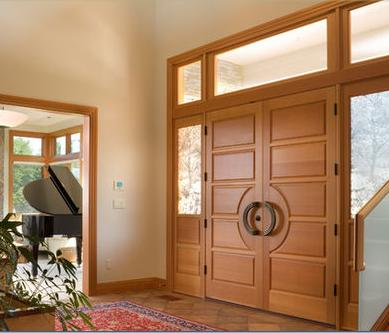 Fotos y dise os de puertas puertas de interiores de madera for Puertas en madera para interiores